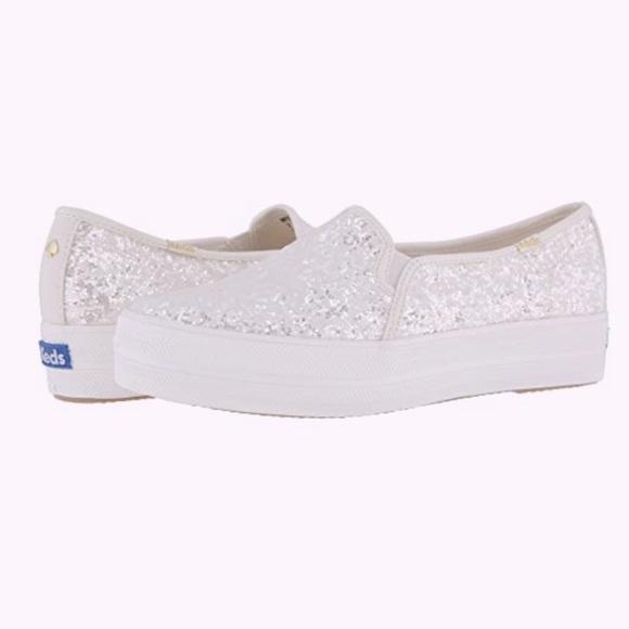 Women's size 8 Kate spade ♠️ keds  glitter shoes
